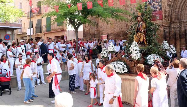 Procesión en fiestas de Fitero en honor a la Virgen de la Barda (10 de septiembre)