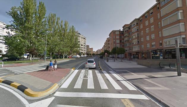 La calle Abejeras de Pamplona.