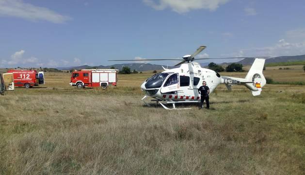 El herido fue trasladado en helicóptero al CHN