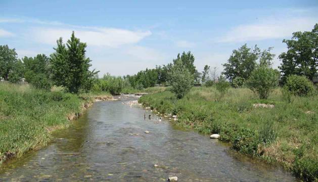 El río Congost, a su paso por Granollers.