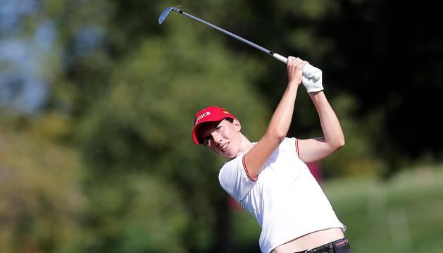 Carlota Ciganda, a un golpe de un cuarteto de líderes en el ecuador del torneo de Evian