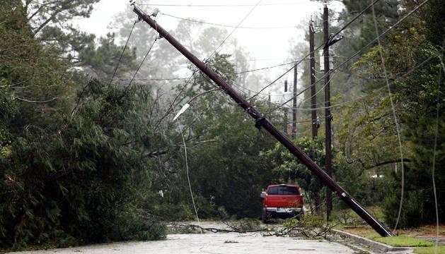 Algunos de los daños causados por el huracán 'Florence'.