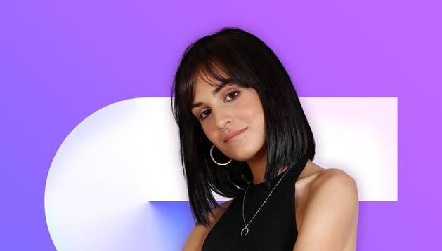 La joven pamplonesa Natalia Lacunza, Eilan Bay, en su primera foto promocional del concurso.