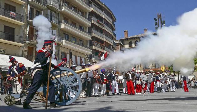 Recreación de la batalla de Las Améscoas en Estella