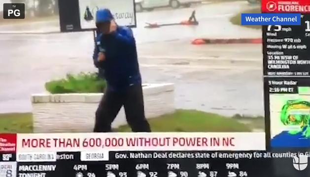 Retransmisión del huracán 'Florence' en The Weather Channel