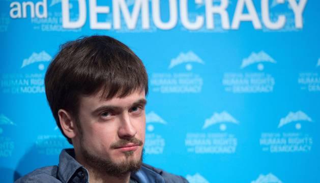 El activista ruso Pyotr Verzilov, del grupo feminista de punk rock Pussy Riot, presuntamente envenenado, en una imagen de archivo.