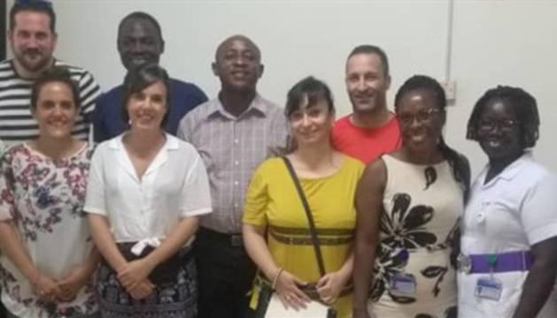 Profesionales del Hospital San Juan de Dios, en Ghana