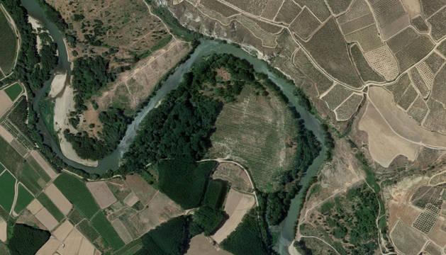 El río Ebro, a su paso por Calahorra.