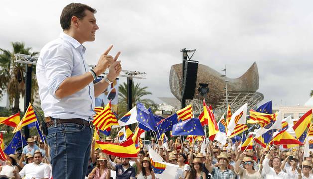 Rivera, en un acto este domingo en Barcelona.