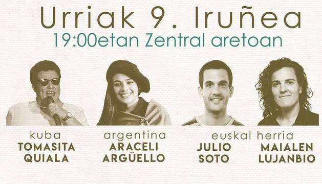 Cartel del concierto el 9 de octubre en el Zentral.