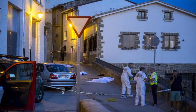 El tiroteo ocurrió en la tarde del martes en la calle Nueva de Cáseda.