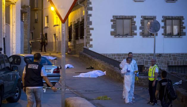Reyerta con tres muertos en Cáseda