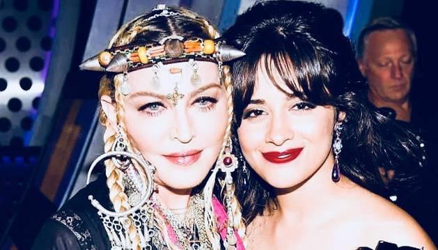 Madonna, junto a Camila Cabello, en la gala de los MTV Music Video Awards
