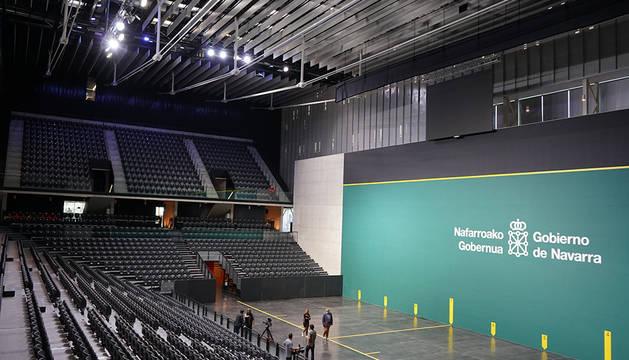 Visita de los medios al Navarra Arena