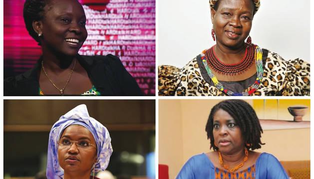 Theresa Kachindamoto, Hulo Guillabert, Victoria Nyanjura y Oumou Sall-Seck.
