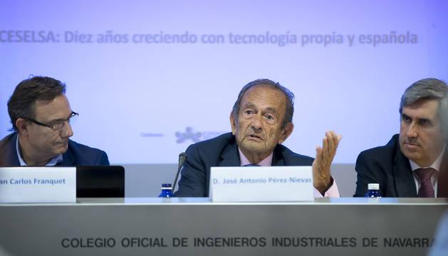 Juan Carlos Franquet, J.A. Pérez-Nievas y Miguel Iriberri.