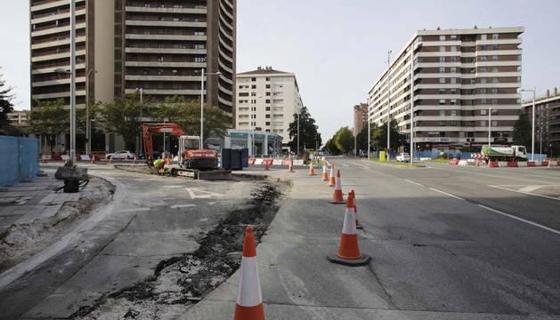 La reforma de Sancho el Fuerte ampliará la acera y restará espacio al tráfico rodado.
