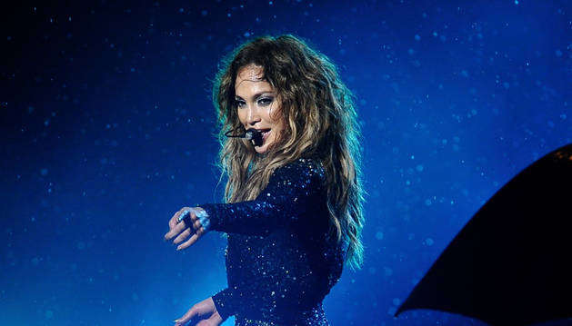 Jennifer López, durante un concierto.