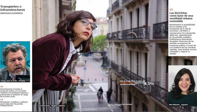 Laura Pérez, en el programa electoral que Podemos creó en 2016, inspirado en los catálogos de Ikea.