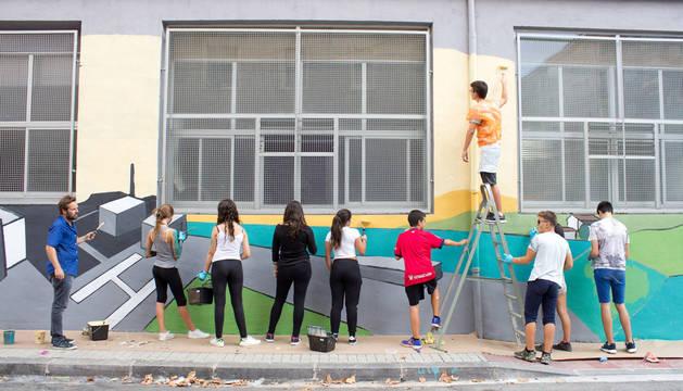 El mural en el centro comunitario de San Jorge