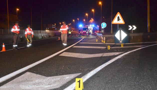 Un motorista fallece tras salirse de la vía en la Autovía del Norte en Alsasua