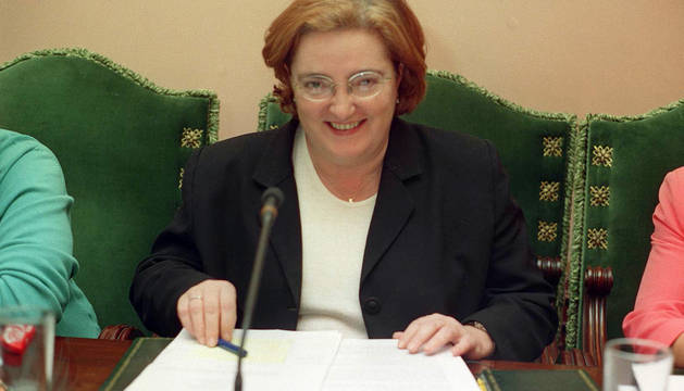 Lidia Biurrun, en una imagen en un pleno de 2001.