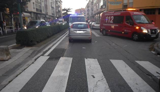 Paso de peatones donde ocurrió el accidente.