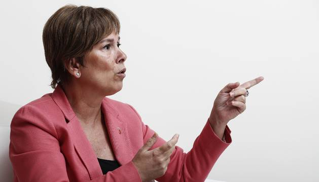 La presidenta del Gobierno foral, Uxue Barkos.