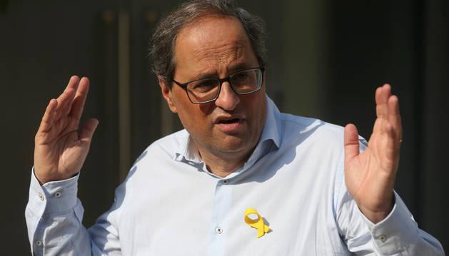 El presidente de Cataluña, Quim Torra.