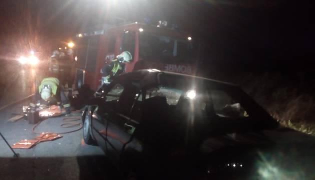 Un herido en la colisión entre dos vehículos entre Corella y Cintruénigo