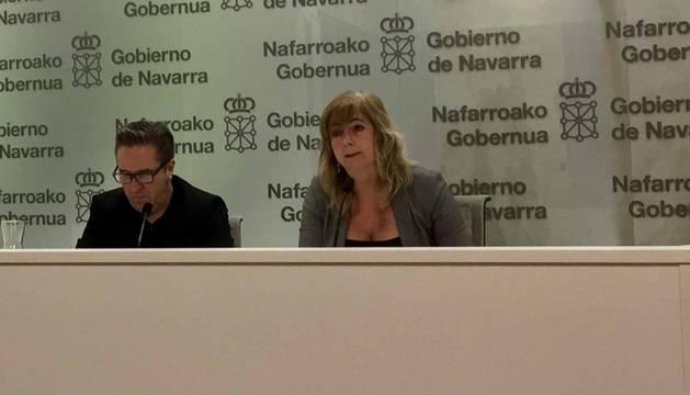 La consejera Ollo con el director general de Comunicación y Relaciones Institucionales, Pello Pellejero