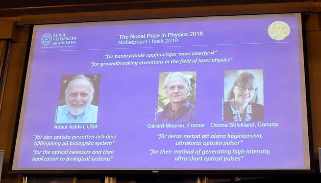 Nobel de Física para Ashkin, Mourou y Strickland por sus innovaciones en la física láser