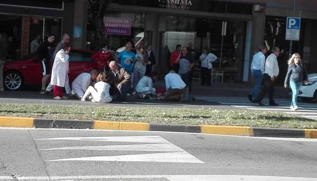 Un atropello corta la calle Iturrama de Pamplona