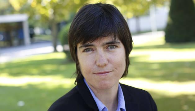 Raquel Urtasun Sotil, responsable de UBER-ATG e ingeniera de 'Telecos' de la UPNA, este viernes en el campus.