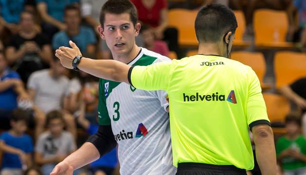 Antonio Bazán, en un partido anterior.