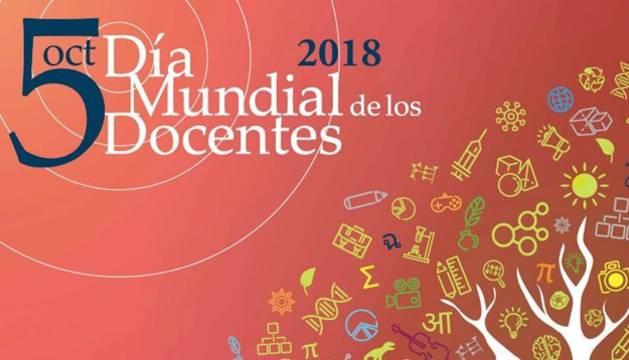 Cartel del Día Mundial de los Docentes de este 2018