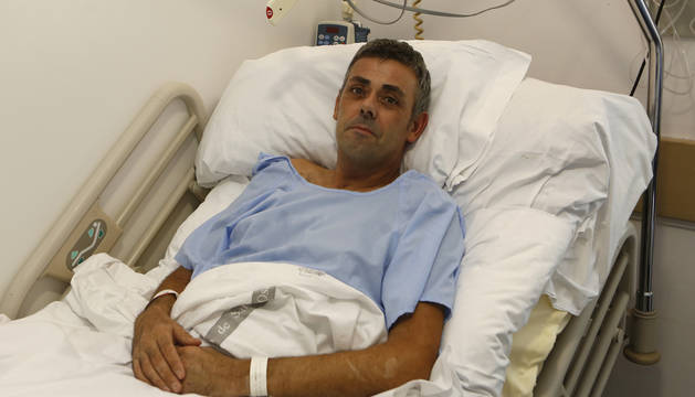 Carlos Martínez Moreno se recupera en el Complejo Hospitalario de Navarra.