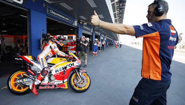 'Machada' de Marc Márquez que saldrá primero en el GP de Tailandia