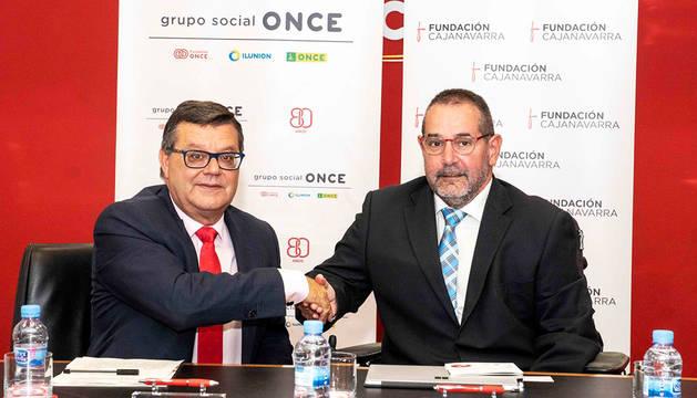 Fundación ONCE y Fundación Caja Navarra colaboran por las personas con discapacidad