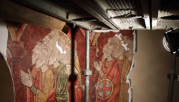 Reconstrucción de las pinturas murales medievales de la iglesia de Artaiz