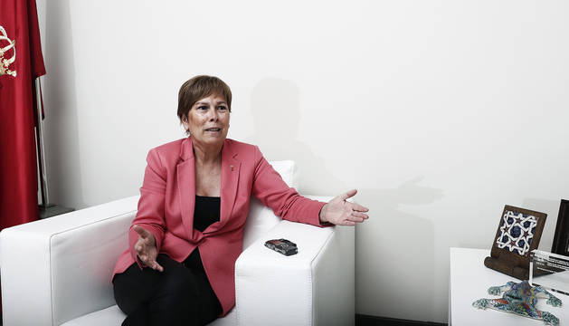 La presidenta del Gobierno de Navarra Uxue Barkos.
