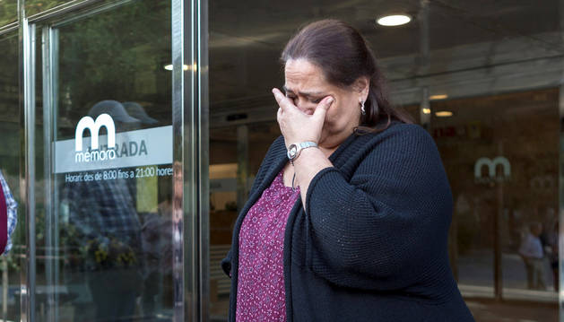 La sobrina de Montserrat Caballé, a su salida del tanatorio barcelonés de Les Corts