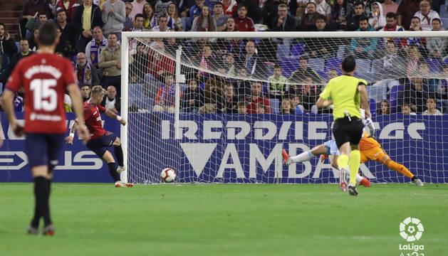 Brandon marca el gol del empate.
