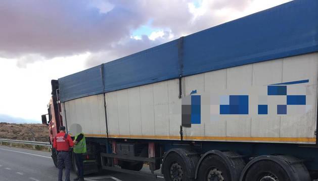 Denunciado un camionero en Sartaguda tras dar positivo en cocaína