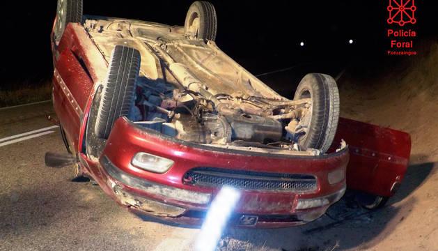 Estado en el que quedó el coche tras el accidente