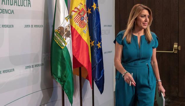 Susana Díaz confirma el adelanto de elecciones para el 2 de diciembre