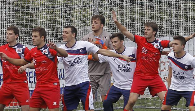Un momento del partido Mutilvera-Baztan de esta temporada.