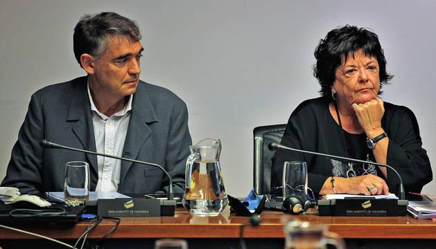 Beaumont, durante su comparecencia en la comisión del Parlamento de Navarra.