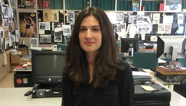 La periodista de Diario de Navarra Ainhoa Piudo.