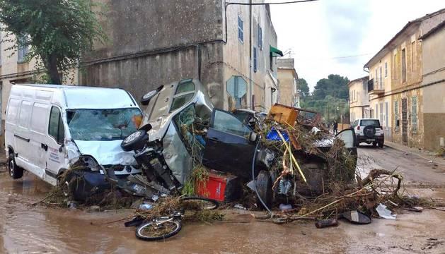 Graves inundaciones en Mallorca al desbordarse un torrente